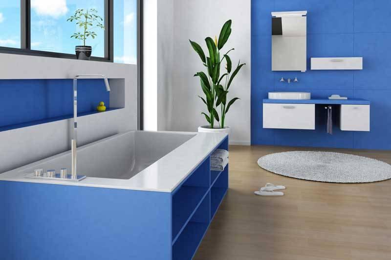 Peinture pour pi ces humides pour cuisines salles de - Peinture anti humidite pour salle de bain ...